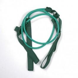 Papildomos gumos prie Gymstick elastinio treniruoklio - treniruočių lazdos (lengvas/žalias)