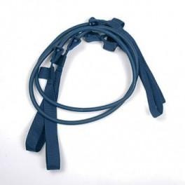 Papildomos gumos prie Gymstick elastinio treniruoklio - treniruočių lazdos (vidutinis/mėlynas)