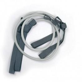 Papildomos gumosprie Gymstick elastinio treniruoklio - treniruočių lazdos (ypač stiprus/sidabr.)