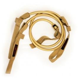 Papildomos gumos prie Gymstick elastinio treniruoklio - treniruočių lazdos (super stiprus/auksin.)