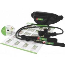 Gymstick elastinis treniruoklis prie šiaurietiško ėjimo lazdų (NW Gym), didelio pasipriešinimo